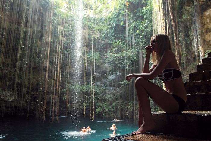【メキシコ】100m先まで見える透明度! 神秘の泉セノーテ・イキルはマヤ文明の贈り物