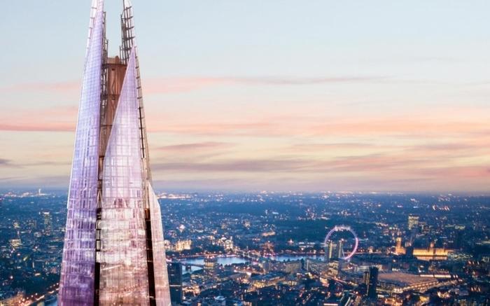 ロンドンのアクアシャードからの美しい眺め