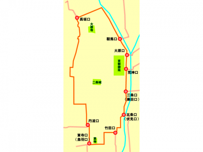 """【京都】""""京の七口""""ぐるっと一周"""
