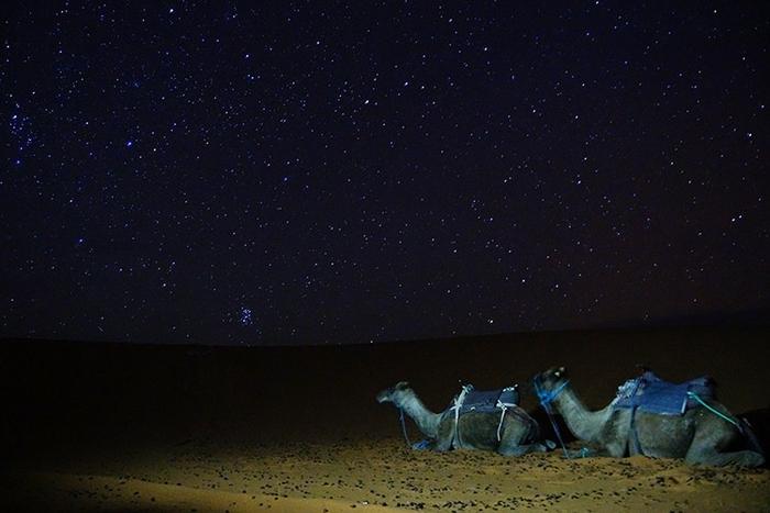 星空がきれいな砂漠