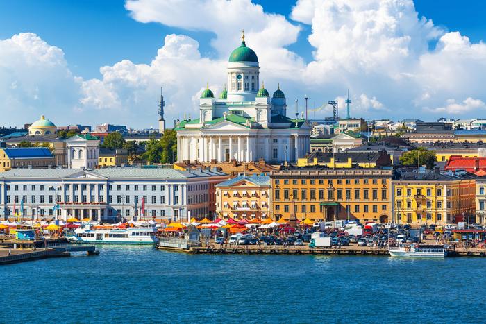 フィンランドの街並み